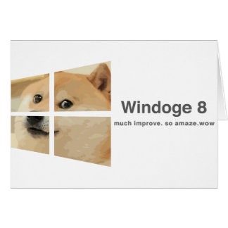 Windoge 8 greeting card
