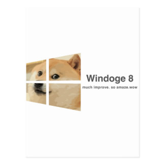 Windoge 8 postcard