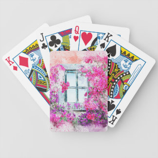 window-2638837_1920 bicycle playing cards