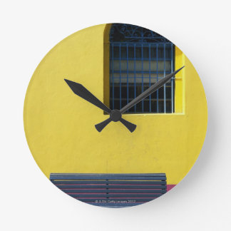 Window and Bench Round Clock