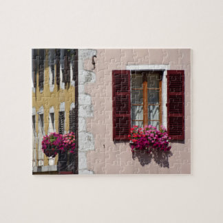 Window and flower box in historic Annecy, France Jigsaw Puzzle