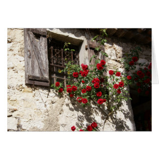 Window and Roses Card