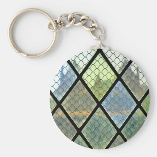 Window Art Basic Round Button Keychain