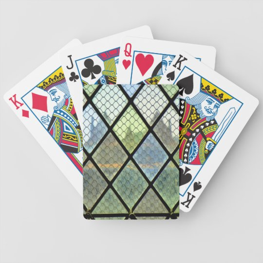 Window Art Bicycle Playing Cards