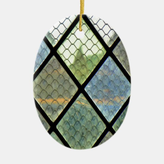 Window Art Ceramic Oval Ornament