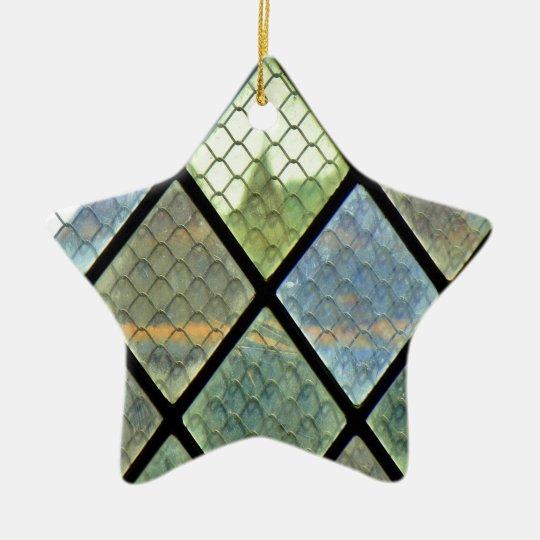 Window Art Ceramic Star Ornament