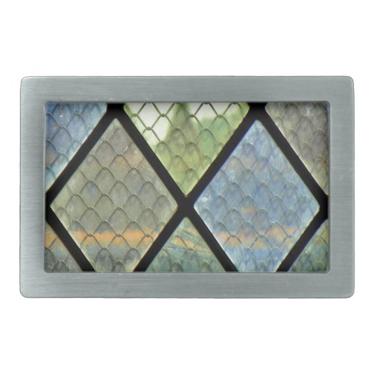 Window Art Rectangular Belt Buckle