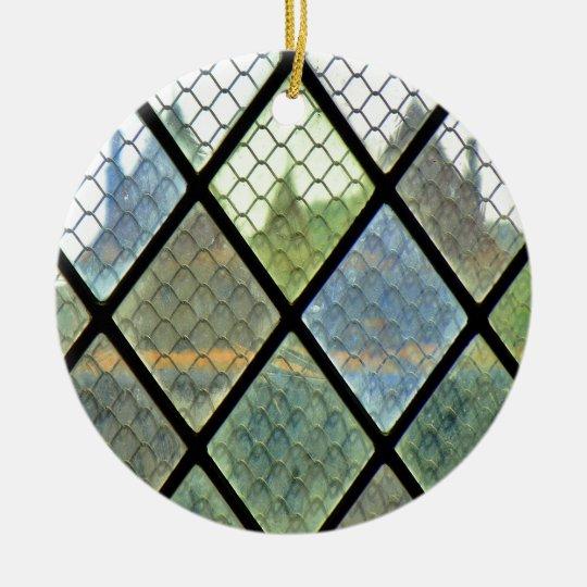 Window Art Round Ceramic Ornament