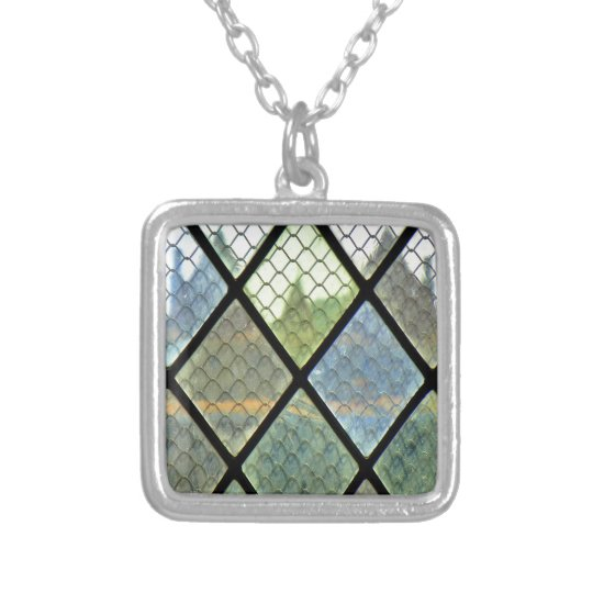 Window Art Silver Plated Necklace