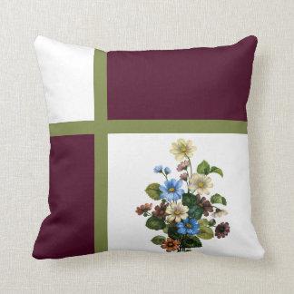 Window Box Flower Bouquet Throw Pillow