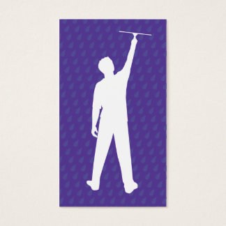 Window Cleaner Sillouette Business Card