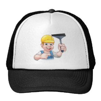 Window Cleaner Squeegee Cartoon Character Trucker Hat