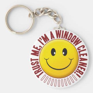 Window Cleaner Trust Smiley Keychain