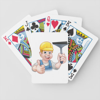 Window Cleaner With Squeegee Bicycle Playing Cards