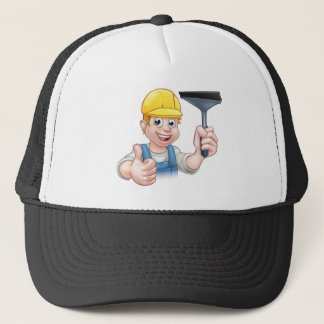 Window Cleaner With Squeegee Trucker Hat