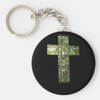 Window Cross Keychain
