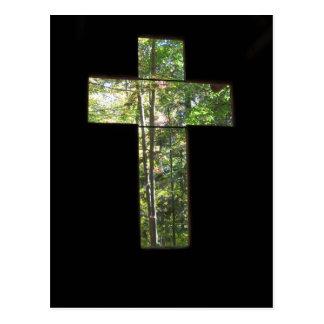 Window Cross Postcard