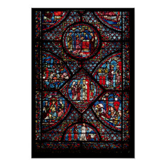 Window depicting scenes print