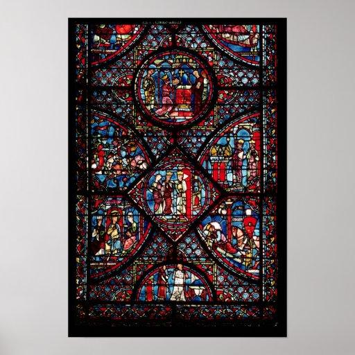 Window depicting scenes print