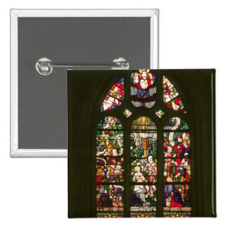 Window depicting the baptism of Christ, 1490 2 Inch Square Button