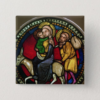 Window Depicting the Flight into Egypt 2 Inch Square Button