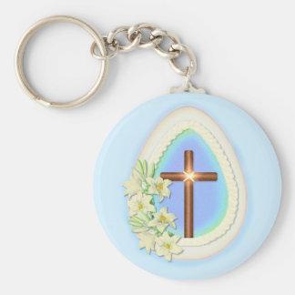 Window Egg and Cross Keychain