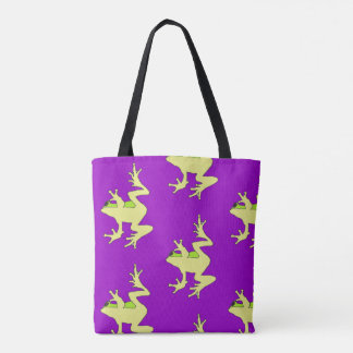Window Frogs tote bag