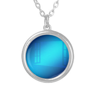 window-gi-49-blue silver plated necklace