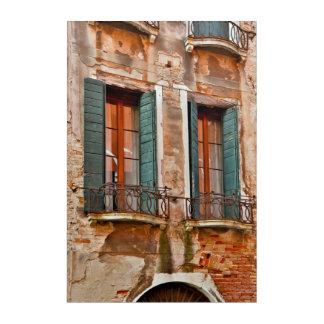 Window In Building Of Venice Acrylic Wall Art