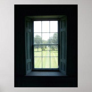 Window in Dratyon Hall Charleston Poster