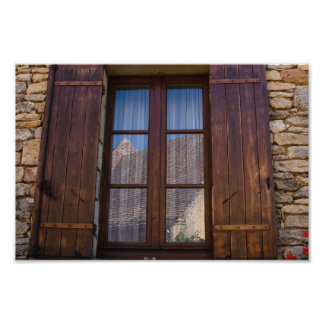 Window in French Countryside Photo Print