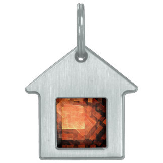 Window Light Abstract Art House Pet ID Tag