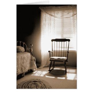 Window Light Room In Sepia Card