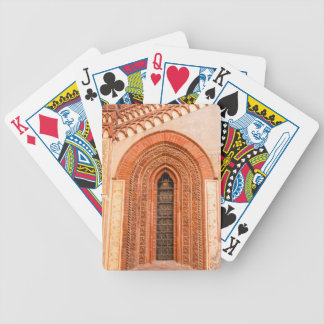 WINDOW OF GOTHIC STYLE  BICYCLE POKER CARDS