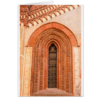 WINDOW OF GOTHIC  STYLE   GREETING CARD