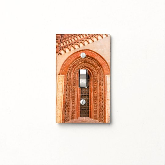 WINDOW OF GOTHIC  STYLE   SINGLE TOGGLE LIGHT SWITCH COVER