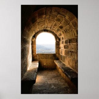 Window of Monterrey castle, Verin (Spain) Poster