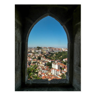 Window of Sao Jorge Castle, Portugal - Postcard