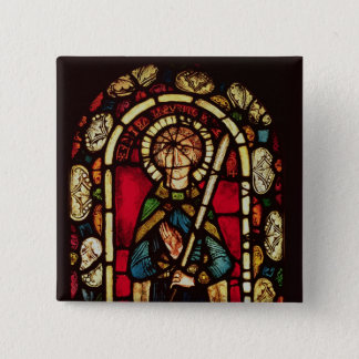 Window of St. Timothy 2 Inch Square Button