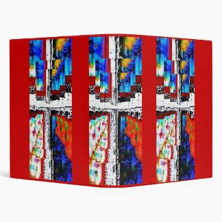 Window Pane Cross-Red Trim Binders