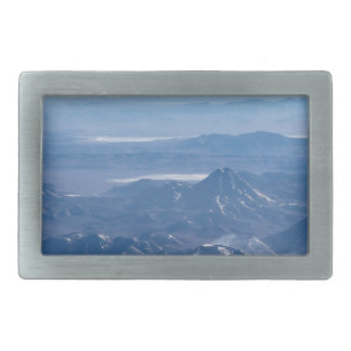 Window Plane View of Andes Mountains Belt Buckle