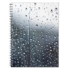 Window Raindrops Notebook