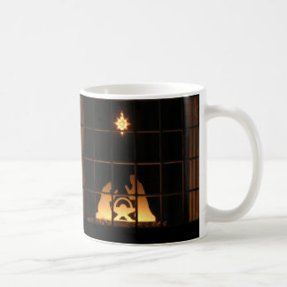 Window Silhouette Nativity Merry Christmas Mug