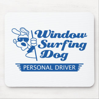 Window Surfing Dog Mouse Pad
