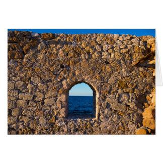 Window to the Aegean Sea Card