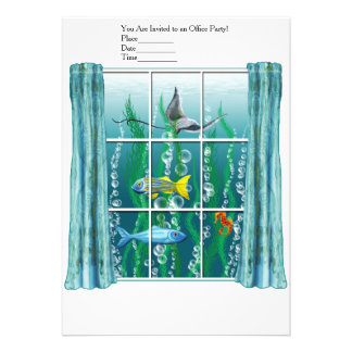 "Window to the Sea 5"" X 7"" Invitation Card"