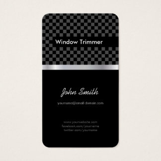 Window Trimmer - Elegant Black Chessboard Business Card