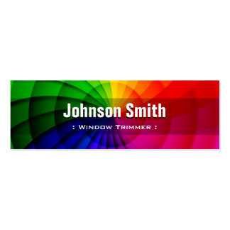 Window Trimmer - Radial Rainbow Colors Pack Of Skinny Business Cards