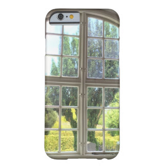 Window View Ostelars Church on Bornholm Denmark Barely There iPhone 6 Case
