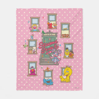 Window Vintage Art Fleece Blanket